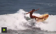 Claudinha Gonçalves invites the longboarder Chloé Calmon and the surfers Barbara Muller and Bruna Queiroz ...